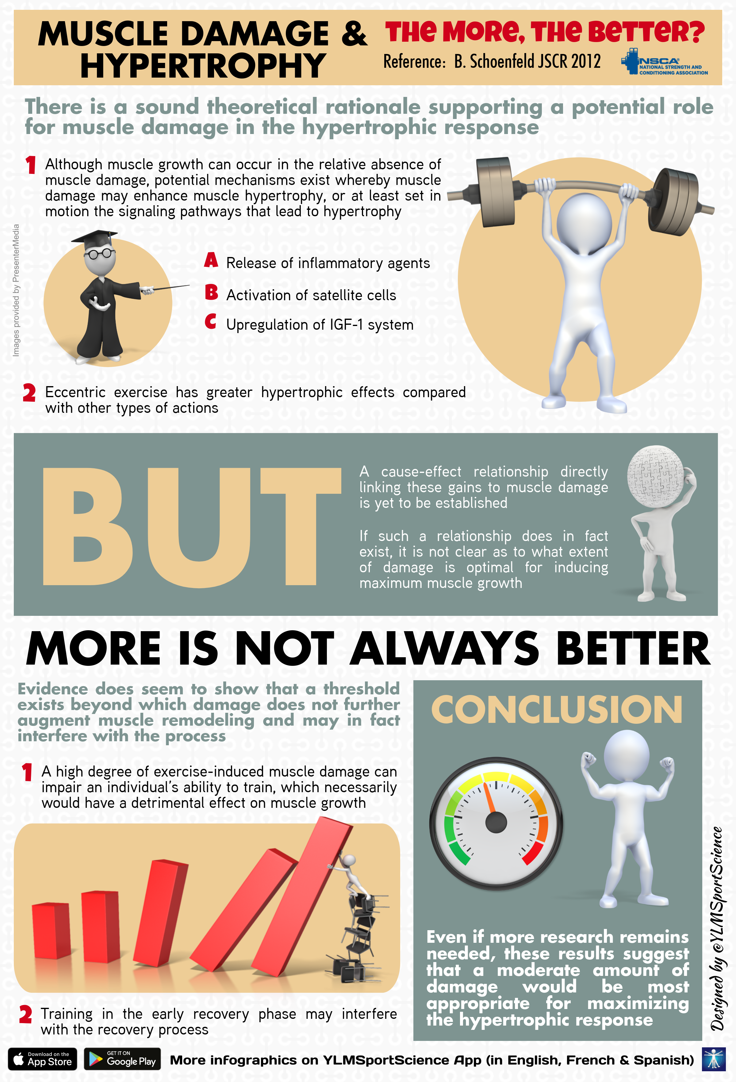 Muscle Damage and Hypertrophy: The More, the Better?