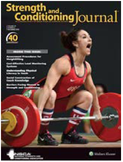 Figure 1. December 2018 cover of The Strength and Conditioning Journal depicting an Olympic weightlifter maximally opening the jaw